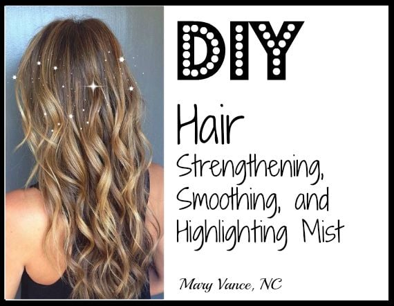 How to make a chemical-free DIY hair mist that will brighten, strengthen, and add sheen to your hair.