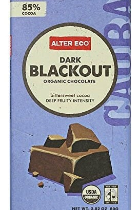Alter Eco Chocolate Dark Blackout 85% (12 pack)