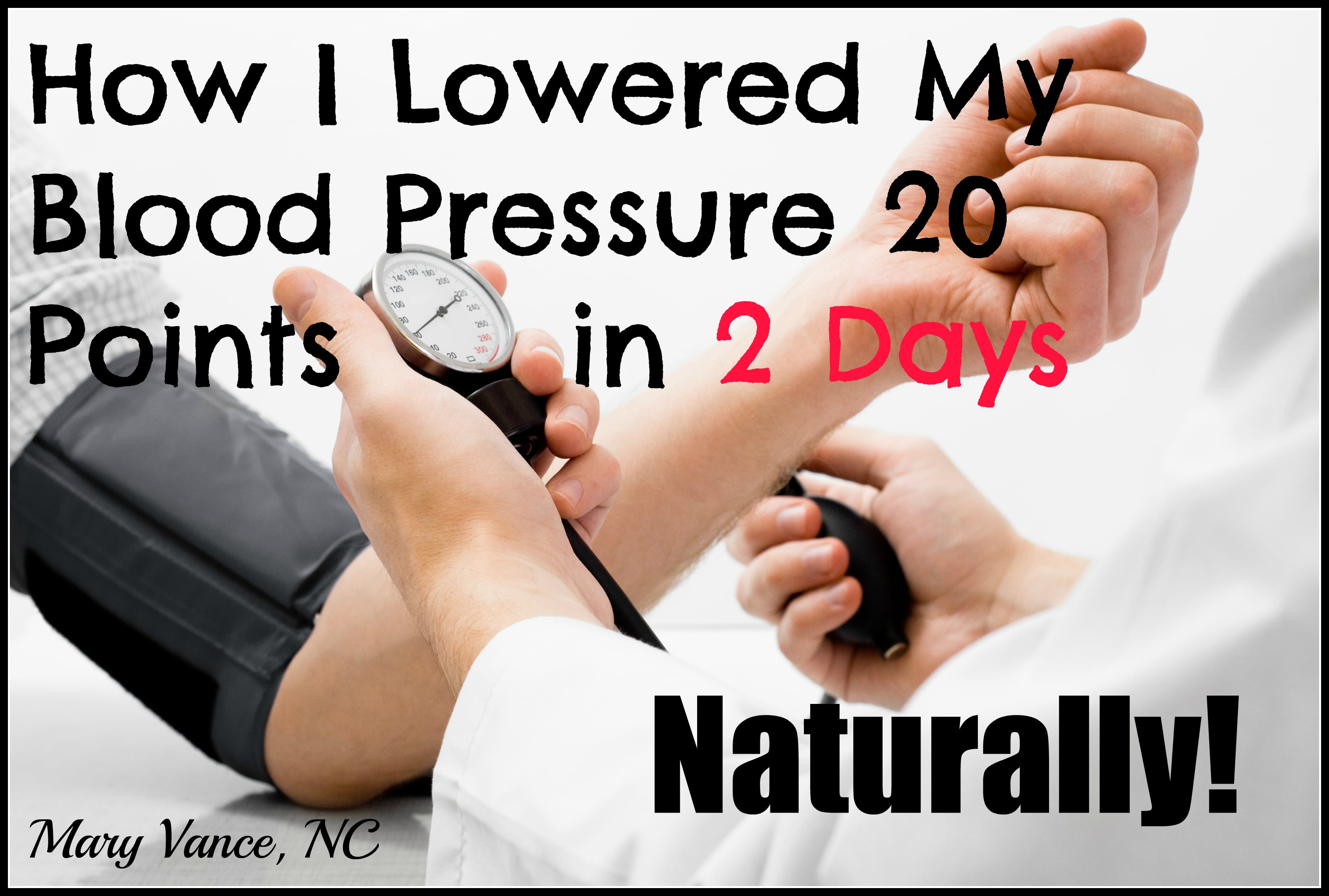 How To Get Blood Pressure Down Naturally