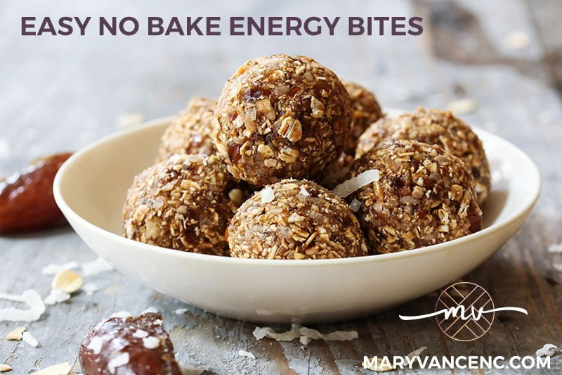 Mostly Sugar Free Nut Butter Energy Bites (Gluten Free, Dairy Free, No Bake!)