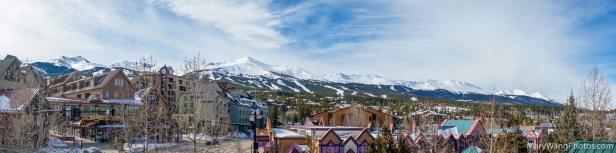 Panoramic of Breckenridge ski resort