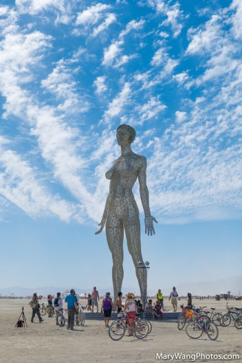 R-Evolution statue of a woman