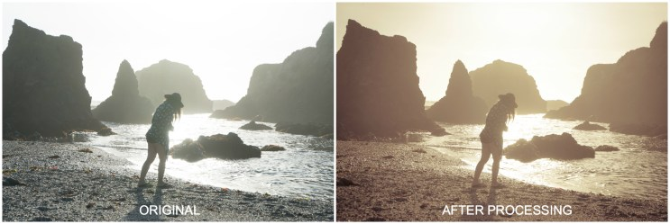 Mendocino Glass Beach before & after
