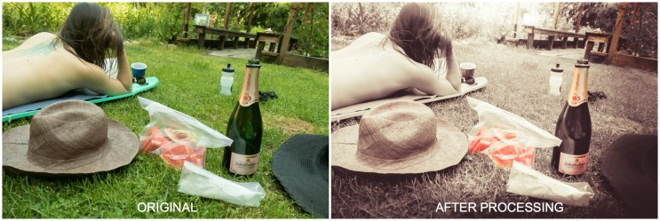 Nude Picnicking before & after