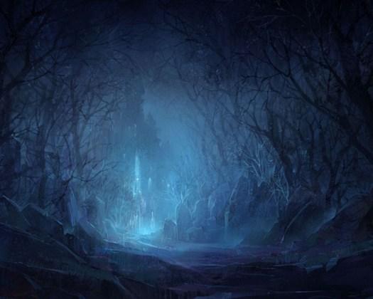 Dunkelheit des Winters