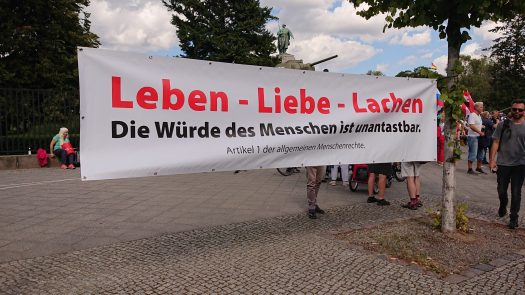 Straße der 17.Juni, Berlin, Demo 29.08.2020