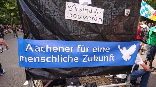 Querdenken 241 Aachen bei Berlin invites Europe