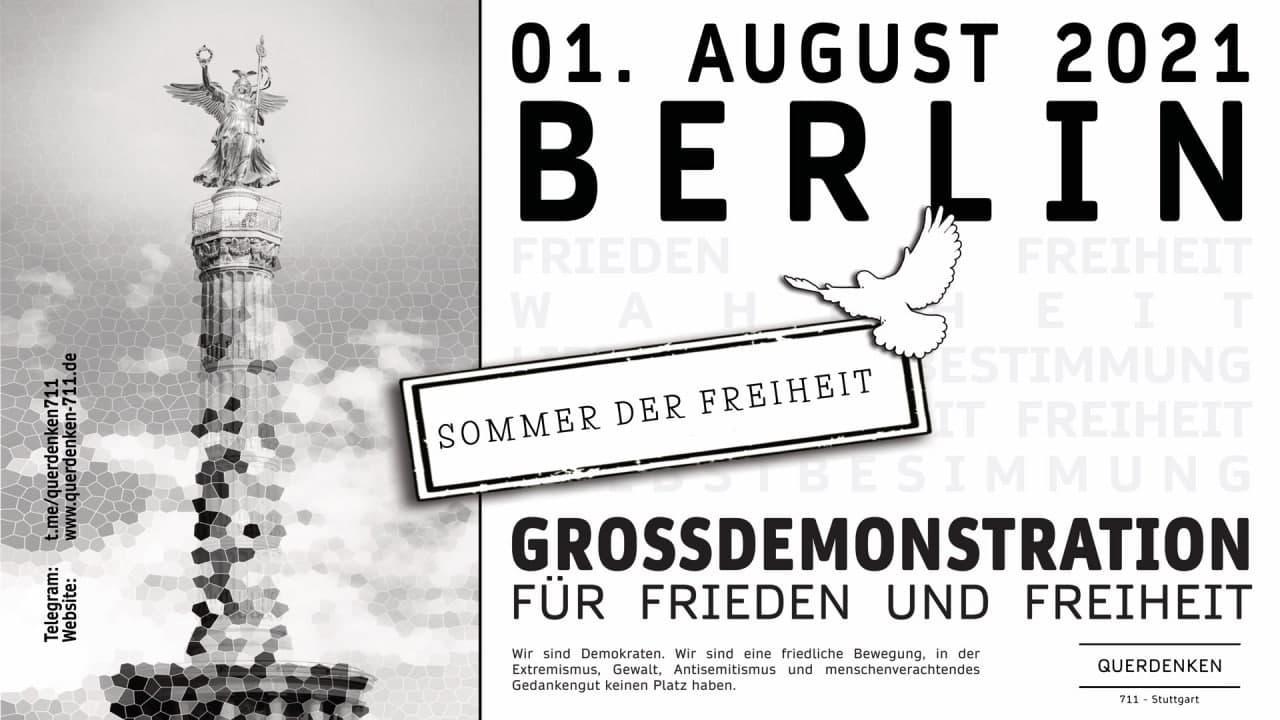 Grossdemo für Frieden und Freiheit 1. August 2021