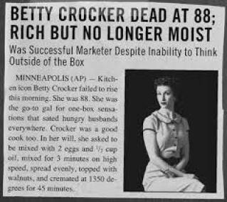 Betty Crocker obit