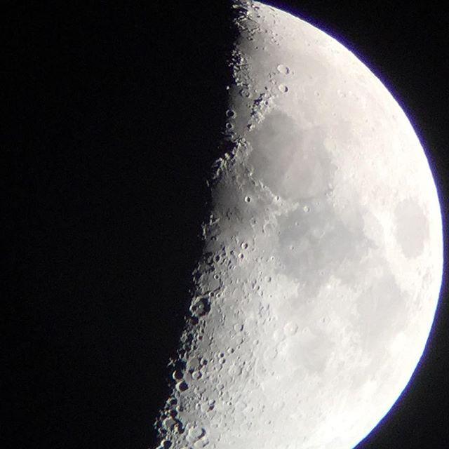 改めてPANDAとiPhoneで月を撮ってみる