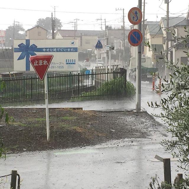 土砂降ってまーす。