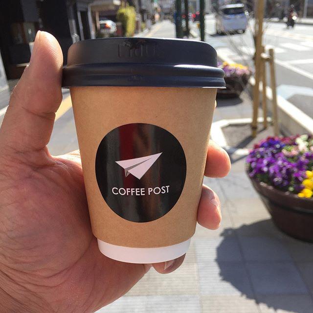 帰りにはCOFFEE POST 。  久しぶりの駅前店。