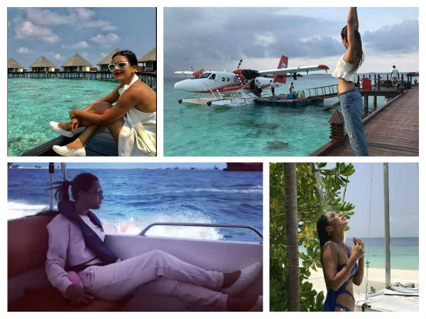 Nia sharma maldives holiday