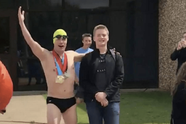 oklahoma dad decided to wear speedo on last day of his son