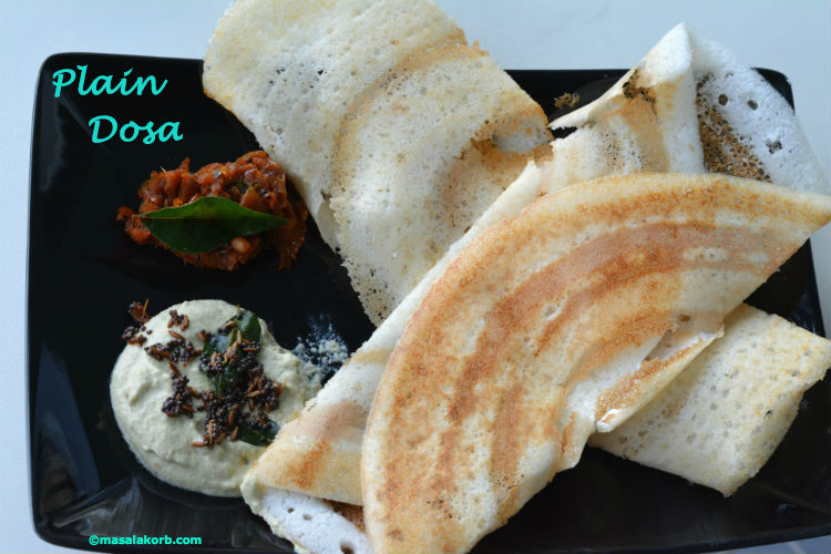 Dosa H with chutneys named