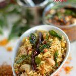 Tamarind rice or Puliyodharai Recipe