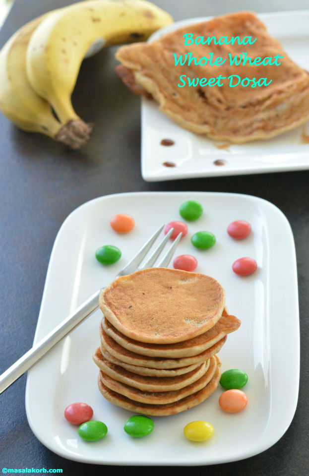 Banana whole wheat sweet dosaV1