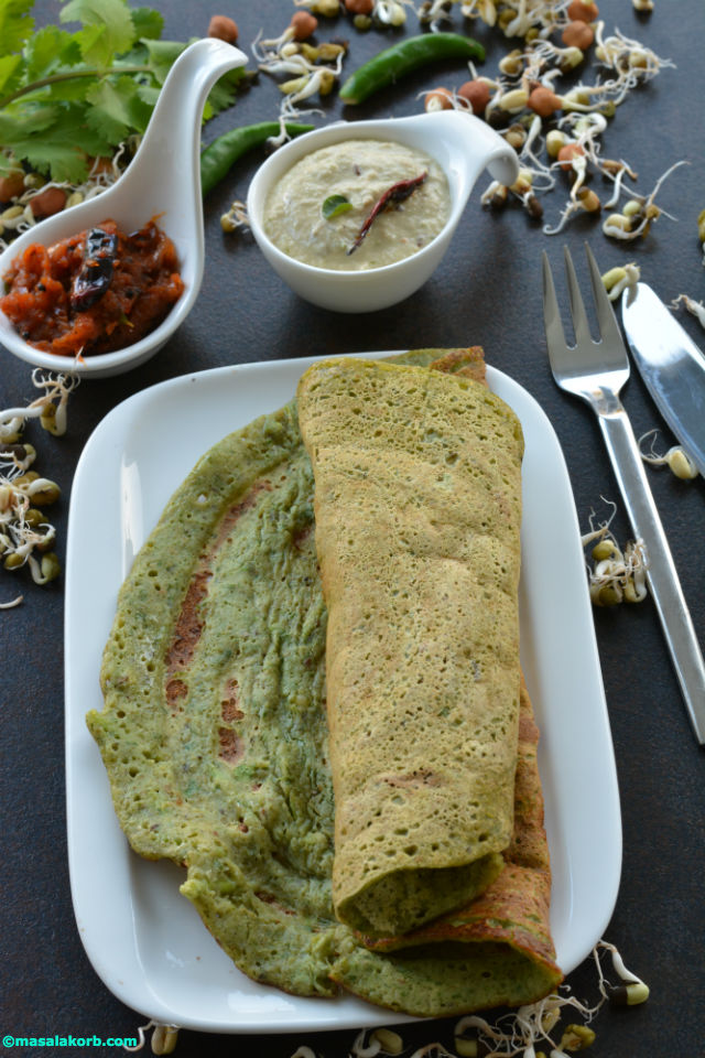 Mixed sprouts dosa V3