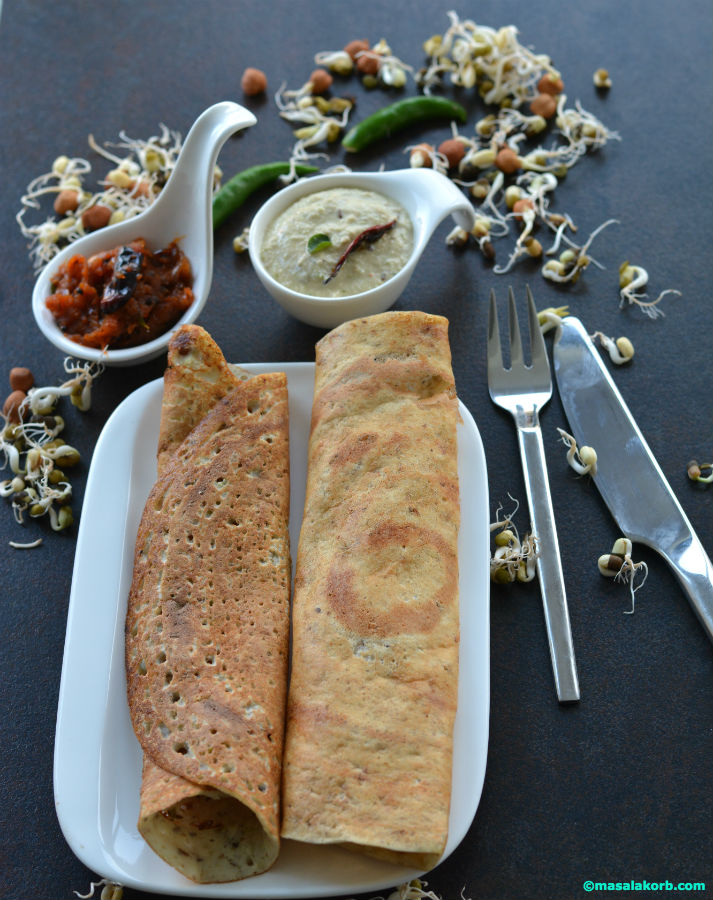 Mixed sprouts dosa V4