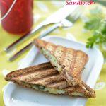 Chaat Style Mashed Potato Toast Sandwich
