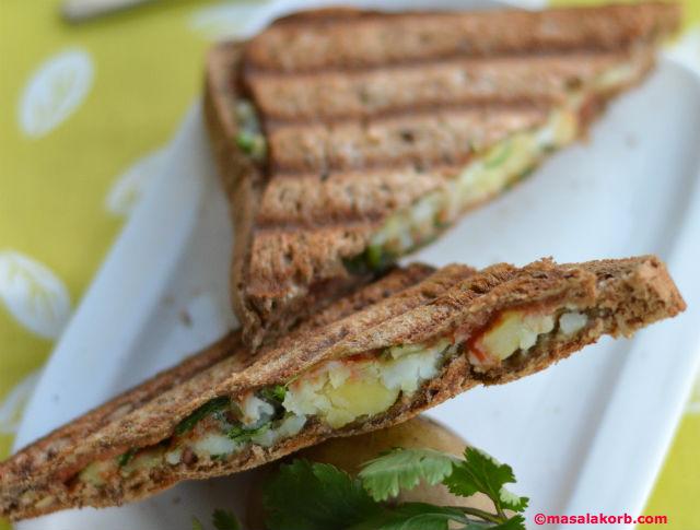 Chaat Style Mashed Potato Toast Sandwich V5