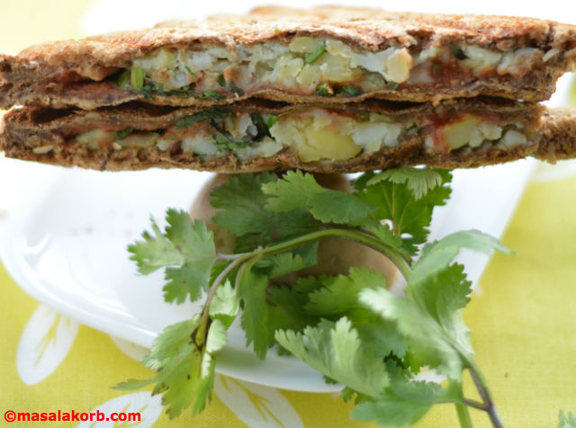 Chaat Style Mashed Potato Toast Sandwich V6