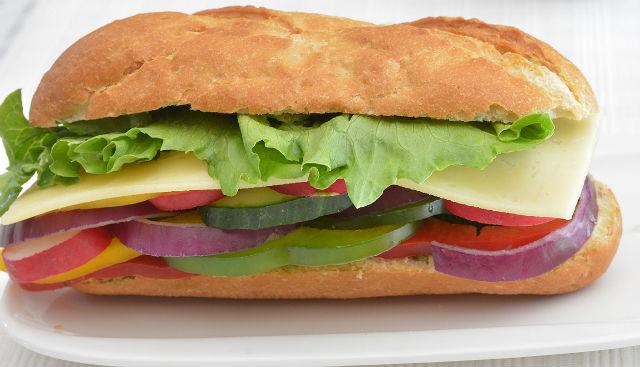 Summer Vegetable Cheese Baguette Sandwich V4