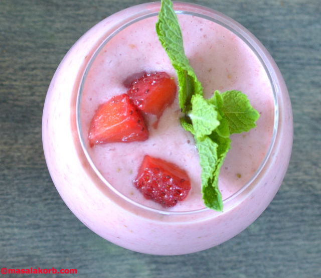 Strawberry Banana Yoghurt SmoothieV5