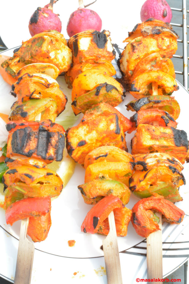 Tandoori Paneer TikkaV6 Tandoori Paneer Tikka With Grilled Veggies