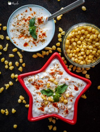 Boondi raita along with Kara Boondi.