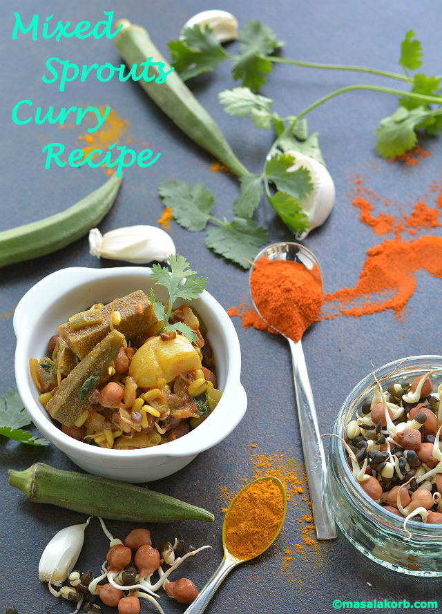 Mixed Sprouts Curry Recipe V1
