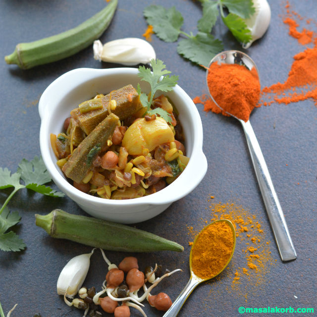 Mixed Sprouts Curry Recipe V4