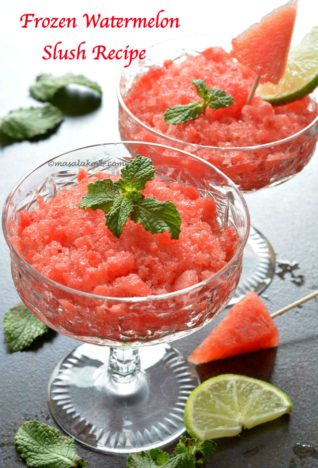 Frozen Watermelon Slush Recipe / Slushie