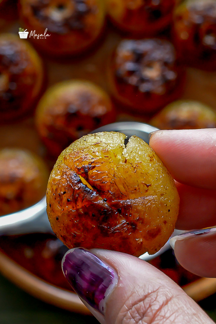 Close up shot of cooked amla