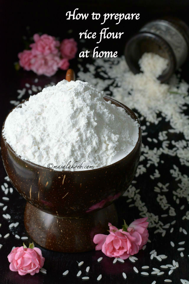 How to prepare rice flour at home | Homemade rice Flour | Pacharisi Maavu Recipe | Biyyam Pindi
