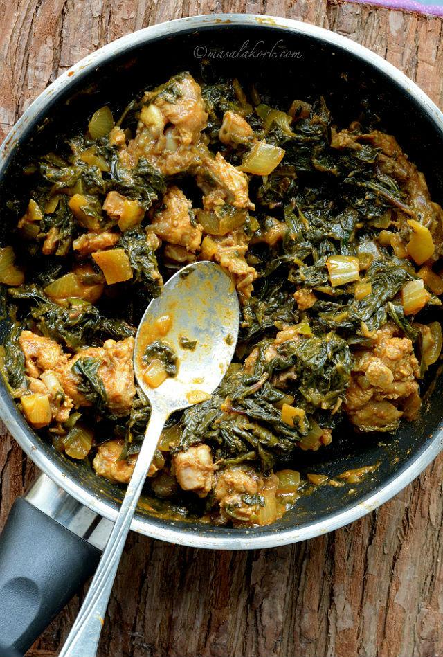 Gongura Chicken Andhra Style Gongura chicken fry