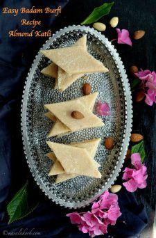 Easy Badam Burfi Recipe Almond Katli, Fudge