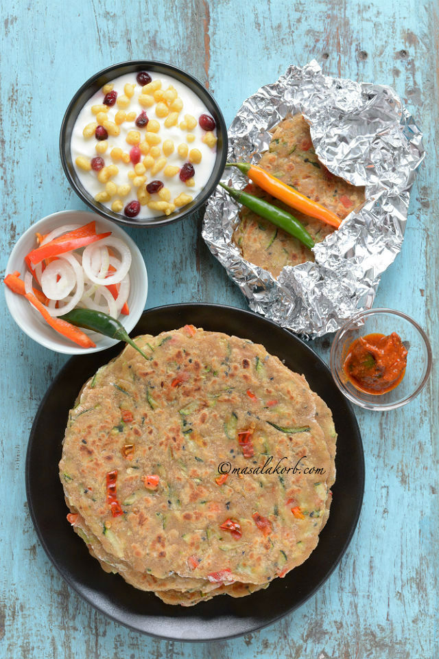 Zucchini Paratha Easy Indian Flatbread Recipe