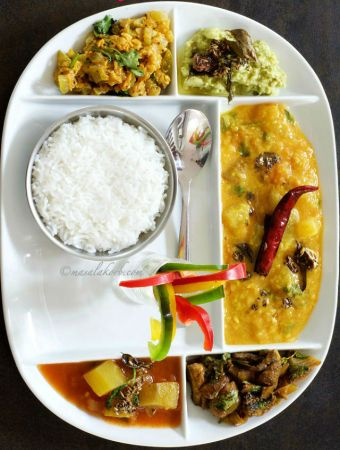 South Indian Vegetarian Lunch Menu Andhra Bhojanam