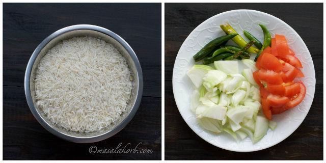 Ingredients for Chicken Biryani
