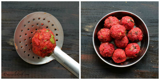Beetroot Kofta Curry, Vegetable Kofta Curry with beetroots