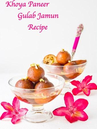 Khoya Paneer Gulab Jamun Recipe, Stuffed Gulab Jamun