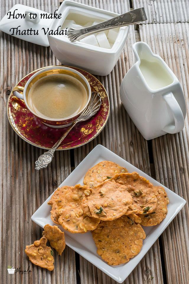 How to make Thattu Vadai, Thattai Murukku Recipe