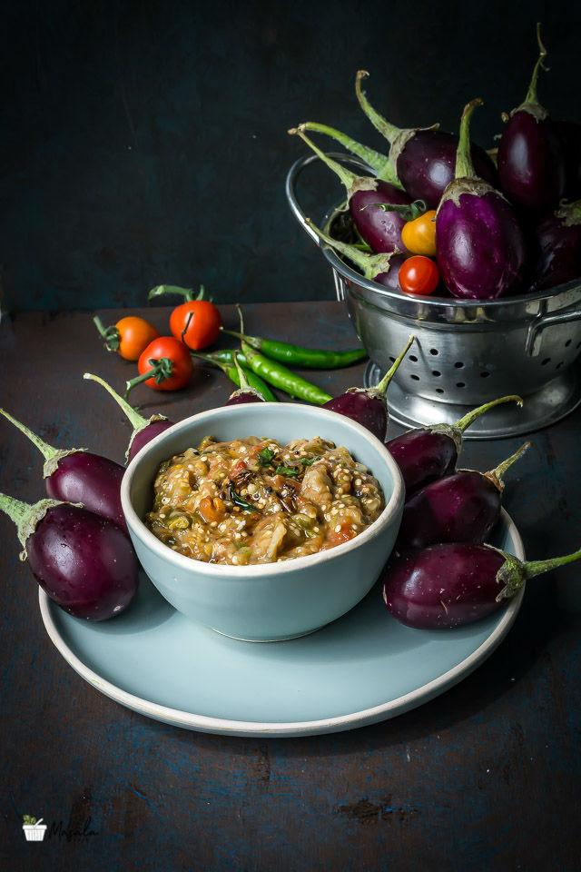 Roasted Eggplant Chutney