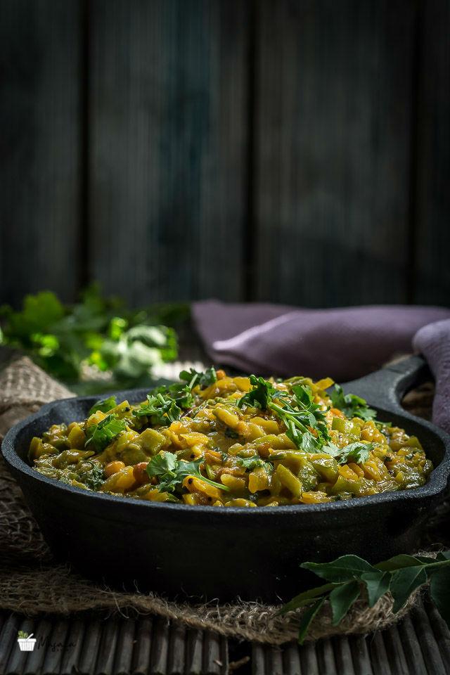 Turai Recipe South Indian, Beerakaya Paalu Curry