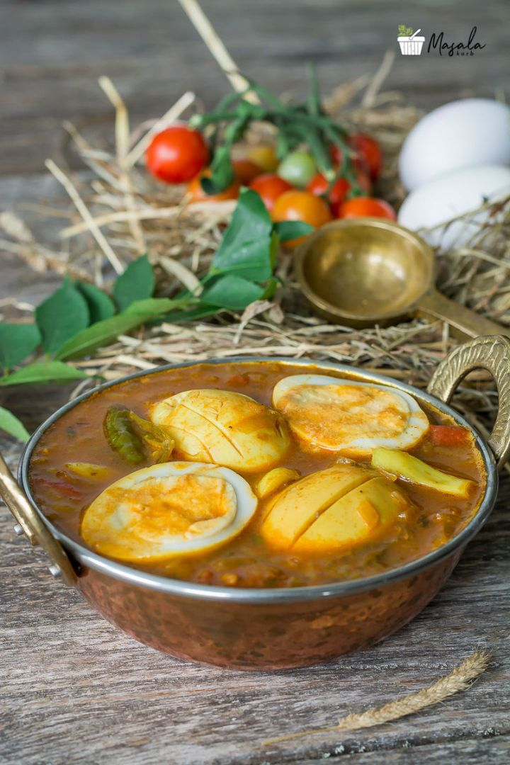South Indian Egg Curry Recipe for Rice
