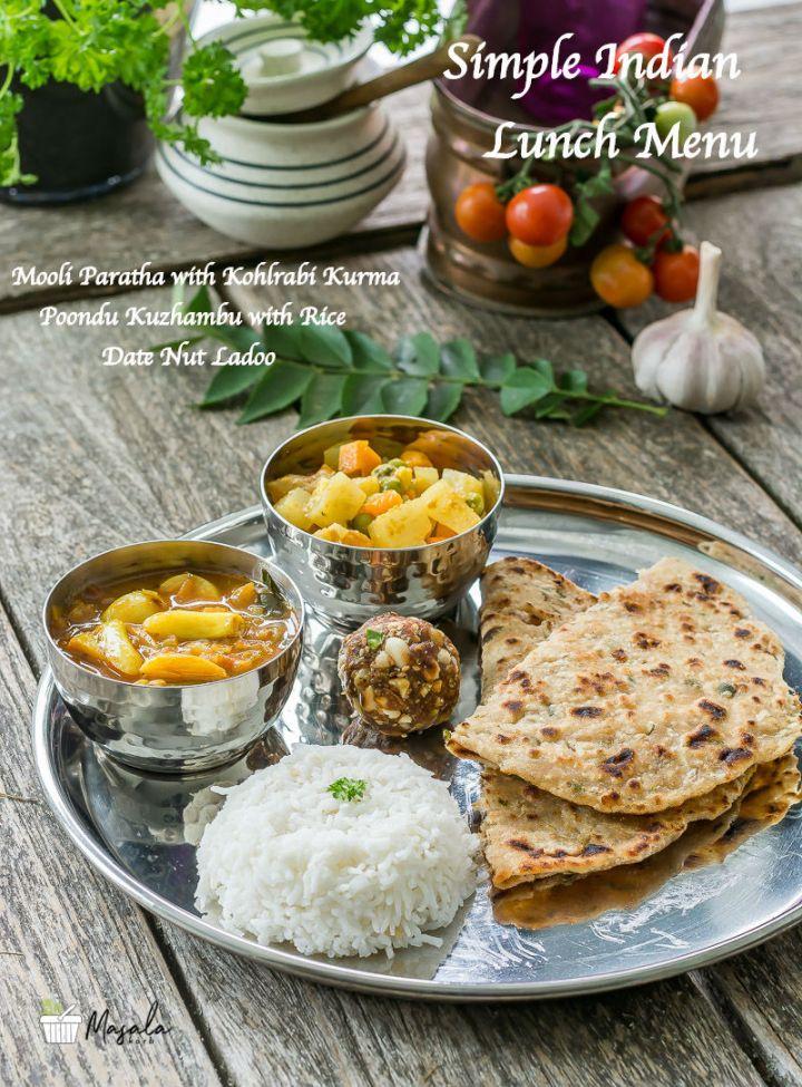 Simple Indian Lunch Menu 4