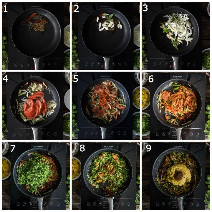 Menthi Kura Pappu Recipe Step1