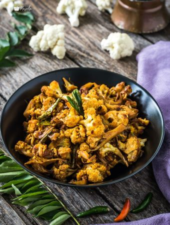 Cauliflower Pepper Fry Chettinad