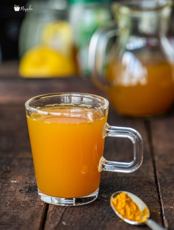 Turmeric Ginger Tea served in a cup